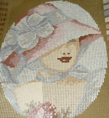 "Orico - ""dame In Rose"" - Tapestry Canvas - New"