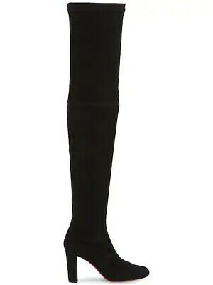 aeb758516c75 Christian Louboutin Black Suede Kiss Me Gena Over The Knee Boots 85MM