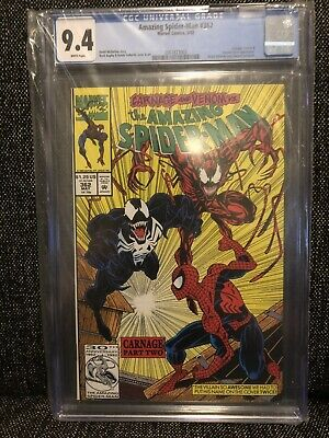 The Amazing Spider-Man #362 CGC 9.4 NM (1992) CARNAGE Venom Human Torch MARVEL