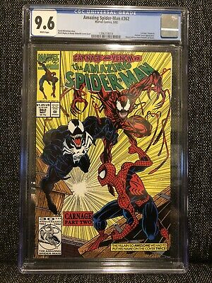 Amazing Spider-Man #362 CGC 9.6 NM+ (1992) CARNAGE #2 Venom Human Torch MARVEL