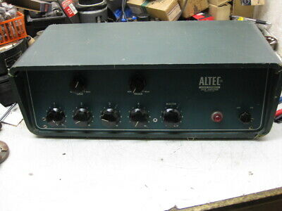 1  ALtec 342B with cabinet tube amplifier