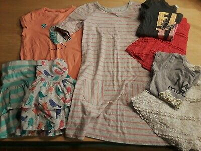 Girls 8-piece clothing lot Spring Summer Outfits Size: 6 - 7