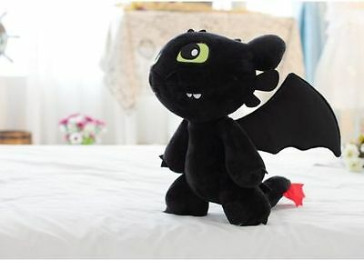 12'' How to Train Your Dragon Toothless Night Fury Stuffed Plush Toy C288 Newly+