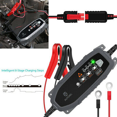 AUTOXEL Automatic Electronic Car Battery Charger Maintainer 12V 6V 4A Fast Modes