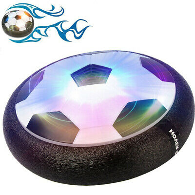 Hover Ball Air Power Soccer Disc Football LED Lights Game Indoor Outdoor Toy Kid