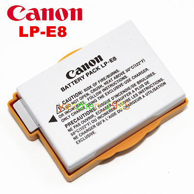 New Genuine Original Canon LP-E8 LPE8 Battery for EOS 550D 700D X4 X5 T2i T3i