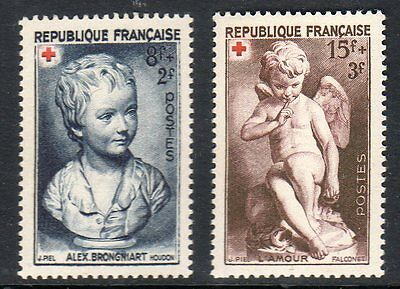 FRANCE 1950 Red Cross Fund pair vf Mint never hinged SG 1105 - 1106