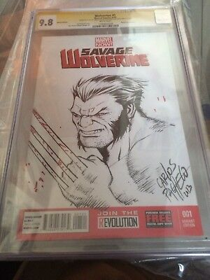 Ss Wolverine Cgc 9.8 sketch by Carlos Pacheco