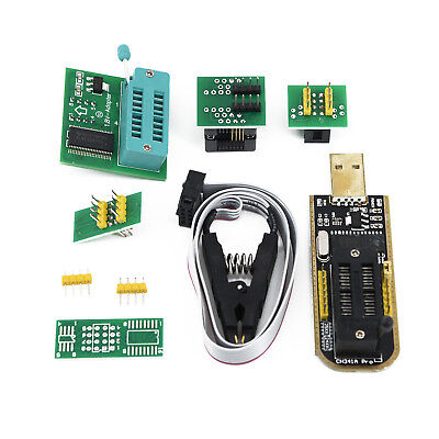 New 1.8V SOIC8 Adapter EEPROM BIOS USB Programmer CH341A SOIC8 Clips Kit Set