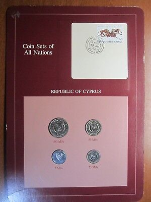 Coin Sets of All Nations Republic Of Cyprus 1982