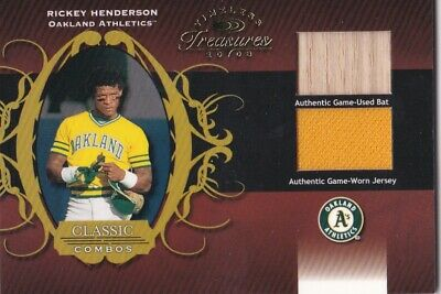2003 Rickey Henderson Donruss Timeless Treasures Classic Combos 69/100