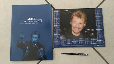 """HOMMAGE à Johnny Hallyday calendrier La Poste 2019 neuf + stylet """"Le Taulier"""""""