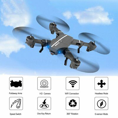 Foldable RC Quadcopter With Camera Wifi FPV HD 2.4G 6-Axis RC Drone 8807 Toys