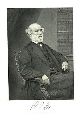 Robert E. Lee - Confederate Army Commander - Eng. after Levine C. Handy - c1870