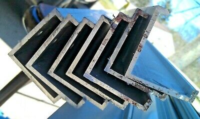 """9Bb14 Aluminum Angle Channel: 2"""" Legs, 3/8"""" Corners, 1/8"""" Thick: 23"""" - 47"""" Long"""