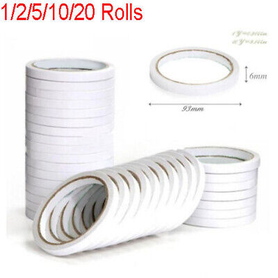 5//10 Rolls of6mm Double Sided Super Strong Adhesive Tape for DIY Craft BrandPVCA