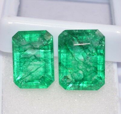 Natural Green Emerald Loose Gemstone 6 to 5 cts 2 Pair GGL Certified Best Offer