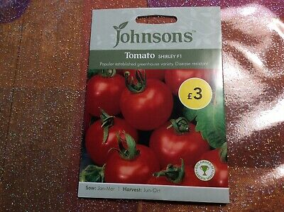 Johnsons Tomato Shirley F1 Vegetable Seeds Indoor Sowing Greenhouse