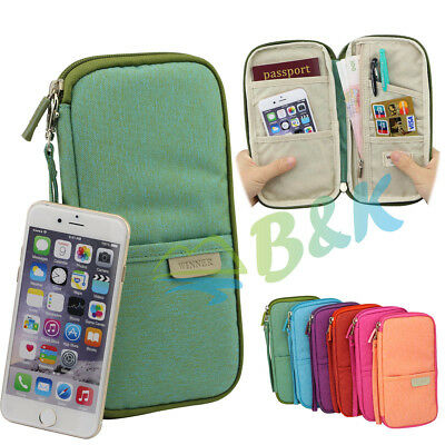 Travel Organizer Bag Money Passport ID Cards Document Holder Wallet Handbag Gift