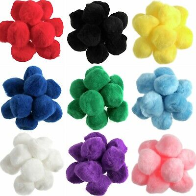 35mm Pom Poms - 3.5cm Fluffy Art Craft Card Making- Many Colours Choose Quantity