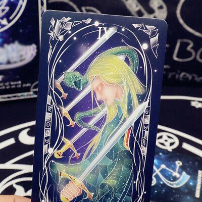 78 Pieces Tarot Card Coated Paper Stars Magic Deck Rider Fortune Telling Set