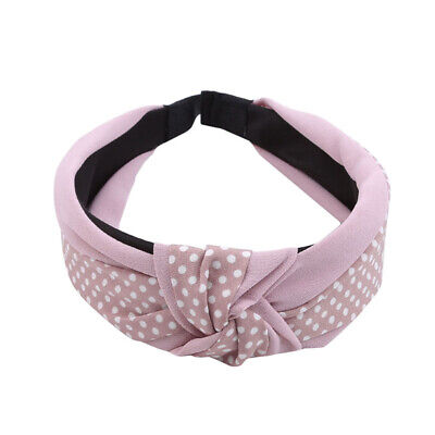 Girl Soft Wide Turban Twist Headband Head Wrap Twisted Knotted Knot Hair Band 8C