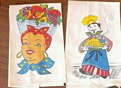 Vintage Linen Printed Kitchen Towels