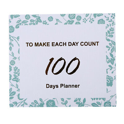 100-day Planner Book Daily Plan Week Schedule Student Time Management Plan 8C