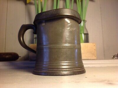 Antique Pewter Tankard Mug Sanders & Son London Stamped