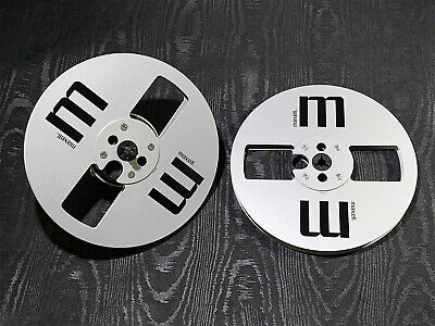 """New! Silver Maxell 7"""" inch Light Metal Aluminum Take Up Reel Pair"""