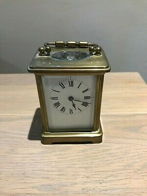 Antique French Brass Carriage Clock - No Key