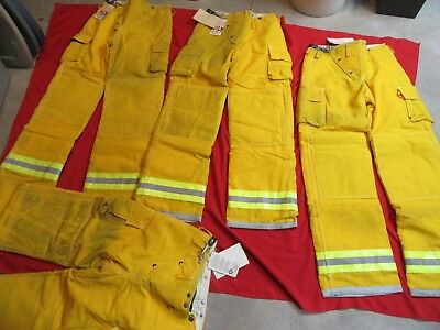 N.O.S. VINTAGE GLOBE Turnout PANTS 32 x 36  FIREFIGHTER FIREMAN BUNKER GEAR LION