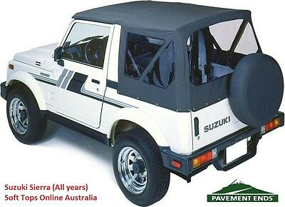Suzuki Sierra Soft Top 1981-98 - Black, NEW, In-stock Australia, FREE delivery