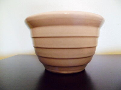 """MONMOUTH Pottery WESTERN Stoneware USA 5"""" RIBBED BEEHIVE BOWL MAPLE LEAF"""