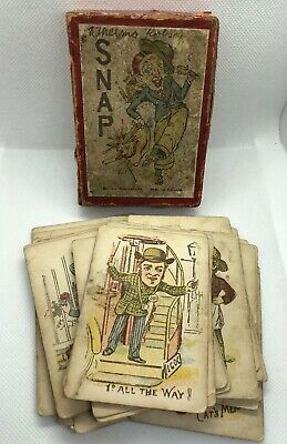 vintage snap card game British Manufacture 35 Cards Made In England Cards