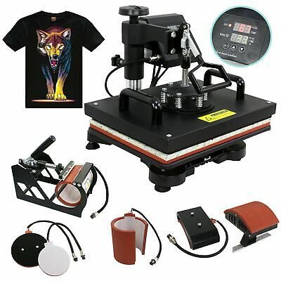 F2C 5 in 1 Professional Digital Transfer Sublimation Swing-away 360-degree Ro...