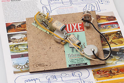 """Prewired Assembly fits Fender® TE / Vintage 58-61' Luxe Caps /CTS """"TVT"""" Pots"""