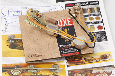"""Prewired Assembly fits Fender® TE / Blackguard 50-52' Luxe Caps /CTS """"TVT"""" Pots"""