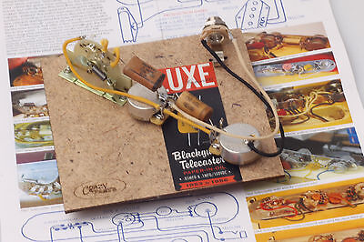 """Prewired Assembly fits Fender® TE / Vintage 53-56' Luxe Caps /CTS """"TVT"""" Pots"""