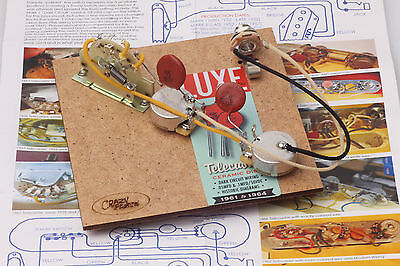 """Prewired Assembly fits Fender® TE / Vintage 61-64' Luxe Caps /CTS """"TVT"""" Pots"""