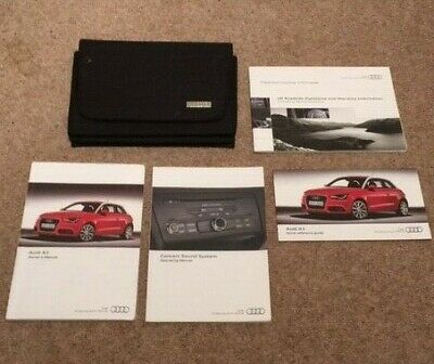 Audi A1 owners manuals and wallet.