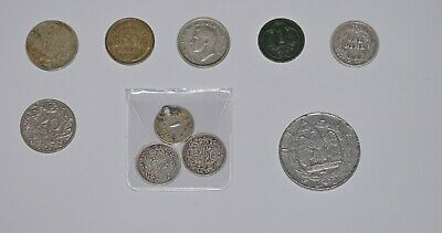 set of 10 very old coins