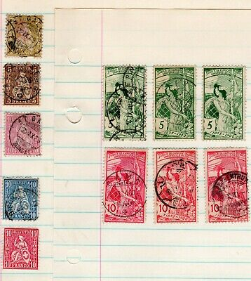 Lot # 1 of  Switzerland Stamps - All are hinged on loose leaf paper - old album