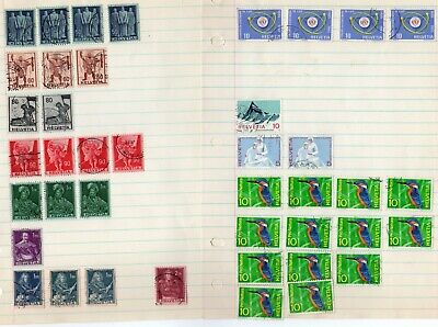 Lot # 3 of  Switzerland Stamps - All are hinged on loose leaf paper - old album