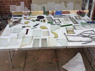 Old Pieces Of  Stained Glass £18 for 10 pieces including post I have 600 pieces