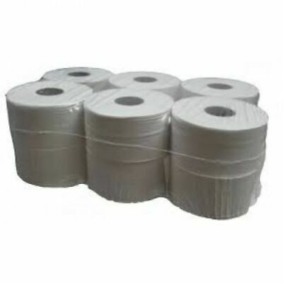 12 x Quality Mini Jumbo Toilet Tissue Rolls 150M 2PLY 76mm Core For Dispensers