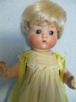 "Antique Bisque Just Me Doll Armand Marseille 10"" – Made in Germany"