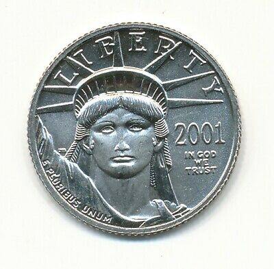 2001 Platinum American Eagle 1/10 Ounce
