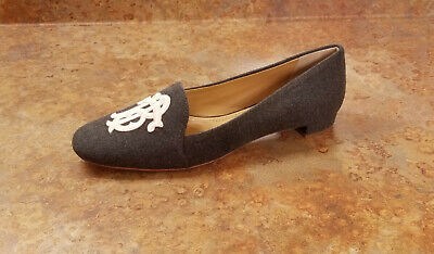 a19c3e17648 Tory Burch  Antonia  Monogram Loafer Shoes Gray Pink Womens 8 M MSRP