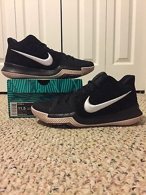 a16087d5e09d NIKE KYRIE 3 sz 11.5 BLACK WHITE BHM MAMBA MENTALITY WHAT THE 2 4 LUCK  FINALS